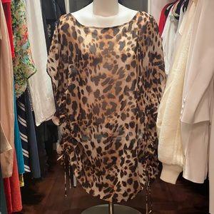 Victoria's Secret Leopard Swimsuit Coverup, XS/S